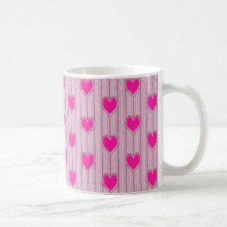 Pink Love Hearts Mug