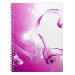 Pink-Love-Hearts Note Books