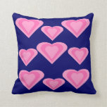 Pink Love Hearts Theme Pillow Cushion