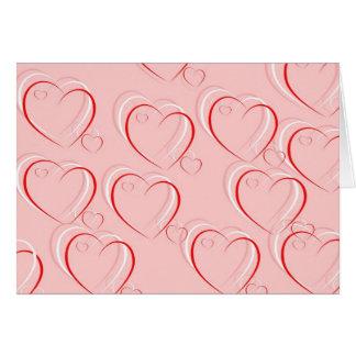 Pink Love Hearts Valentine Card