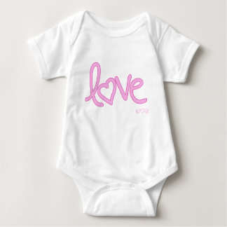 pink love ink scribble baby bodysuit