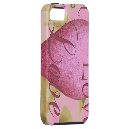 Pink Love Iphone 5 Case