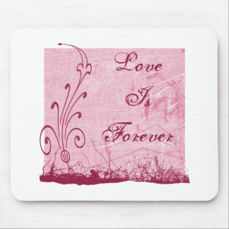 Pink Love Is Forever Grunge Design Mouse Pads