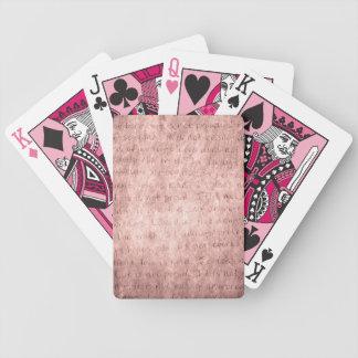 Pink Love Is Patient Love Vintage Wedding Bicycle Card Deck