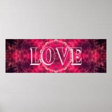 Pink Love Mandala Poster