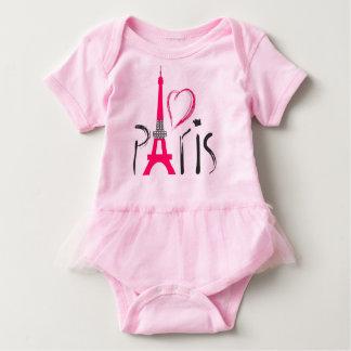 Pink love Paris Baby Bodysuit
