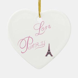 Pink-Love-Paris-Eiffel-Tower-Unique Ceramic Ornament