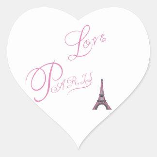 Pink-Love-Paris-Eiffel-Tower-Unique Heart Sticker