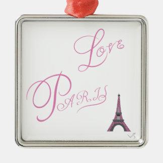 Pink-Love-Paris-Eiffel-Tower-Unique Metal Ornament