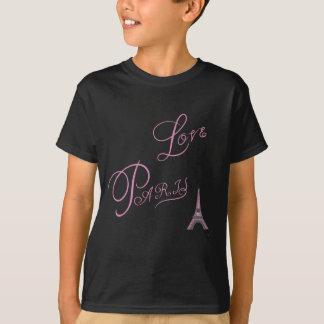 Pink-Love-Paris-Eiffel-Tower-Unique T-Shirt