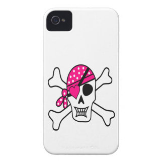 Pink Love Pirate Case-Mate iPhone 4 Cases