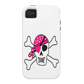 Pink Love Pirate Vibe iPhone 4 Cover