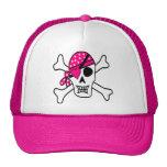 Pink Love Pirate Trucker Hat
