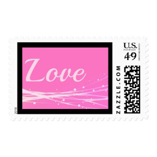 Pink Love Postage Stamp