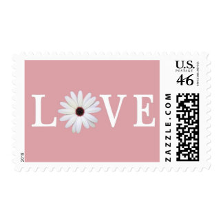 Pink Love Postage Stamps