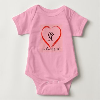 PINK LOVE RX BABY BODYSUIT