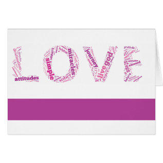 Pink Love Sobriety Anniversary Card at Zazzle