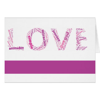 Pink Love Sobriety Anniversary Card
