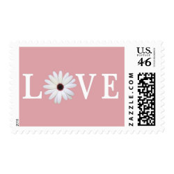 Pink Love stamps stamp
