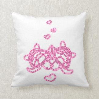Pink Love Turtles Pillow