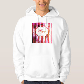 Pink Love with Stripes Hoodie