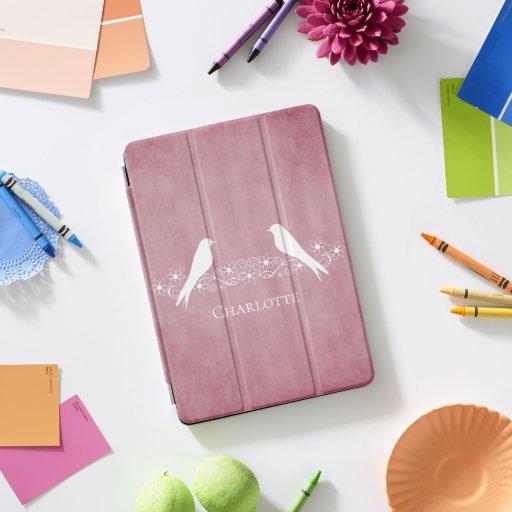 Pink Lovebirds Floral Vine iPad Smart Cover