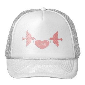 Pink Lovebirds Trucker Hat