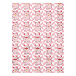 Pink Lucky Cat Tablecloth