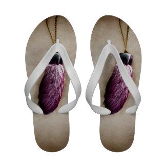 Pink Lucky Rabbit s Foot Sandals