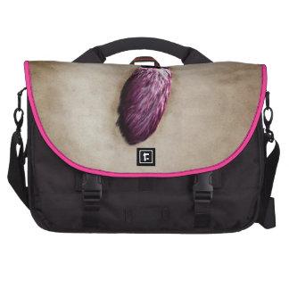 Pink Lucky Rabbit s Foot Laptop Messenger Bag