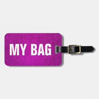 Pink luggage tag for women | Personalizable design
