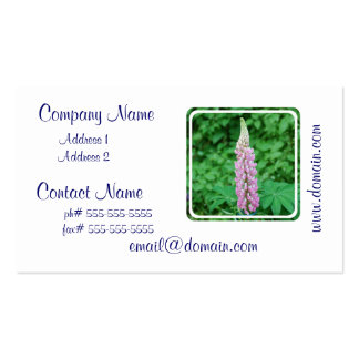 Pink Lupine Business Card Template