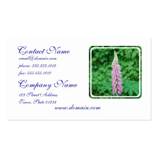 Pink Lupine Business Card Templates
