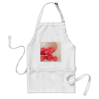 Pink Lychee Fruits In A Bowl  - Fruit Print Adult Apron