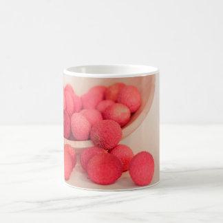 Pink Lychee Fruits In A Bowl  - Fruit Print Coffee Mug
