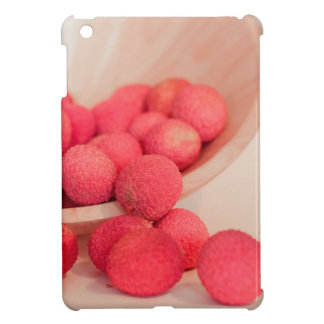 Pink Lychee Fruits In A Bowl  - Fruit Print iPad Mini Cover