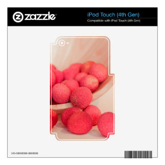 Pink Lychee Fruits In A Bowl  - Fruit Print iPod Touch 4G Skin
