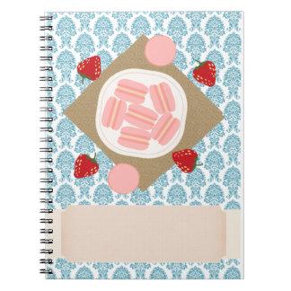 Pink Macaron Spiral Notebook