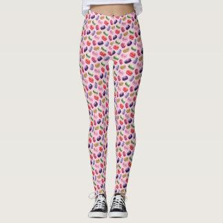Pink Macaron Print Leggings