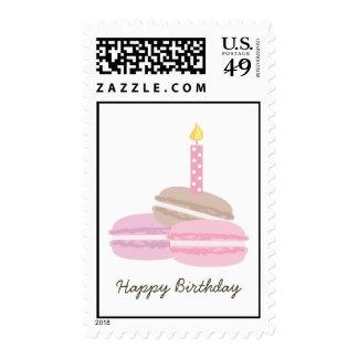 Pink Macarons Birthday Stamps
