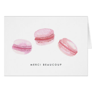 Pink Macarons Thank You Card