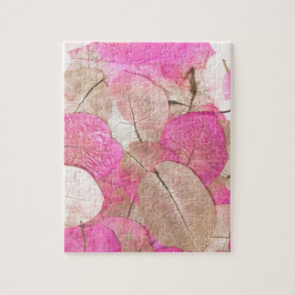 pink macro leaves jigsaw puzzle