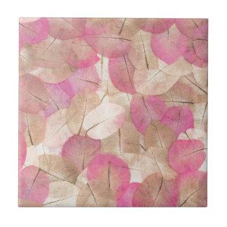 pink macro leaves tile
