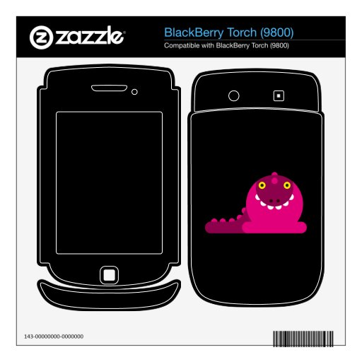 Pink Mad Dragon Skin For BlackBerry Torch