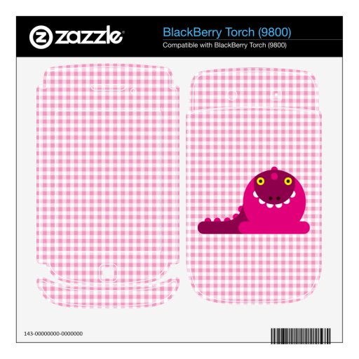 Pink Mad Dragon BlackBerry Torch Decal