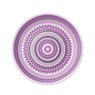 Pink Madala Porcelain Plate