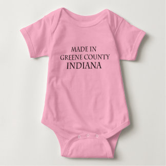 """Pink """"Made in Greene County Indiana"""" Infant Baby Bodysuit"""