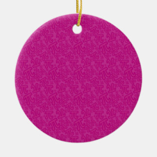 Pink madness of numbers pi ceramic ornament