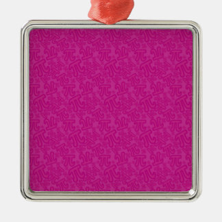 Pink madness of numbers pi metal ornament