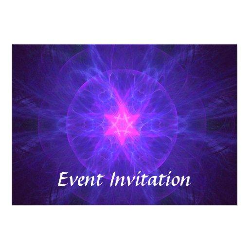 Pink Magen David Custom Invitations